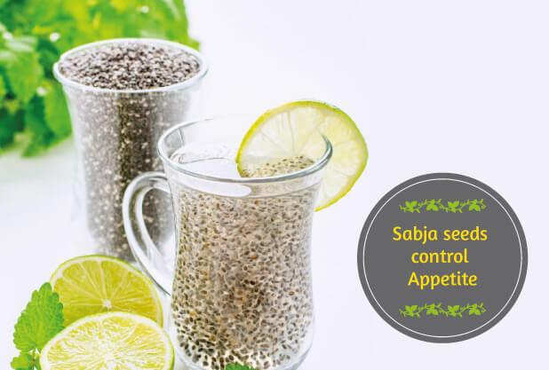 Sabja seeds control appetite