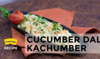 Cucumber Moong Dal Kochumber Recipe